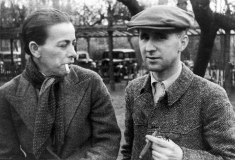 Helene Weigel and Brecht in 1938
