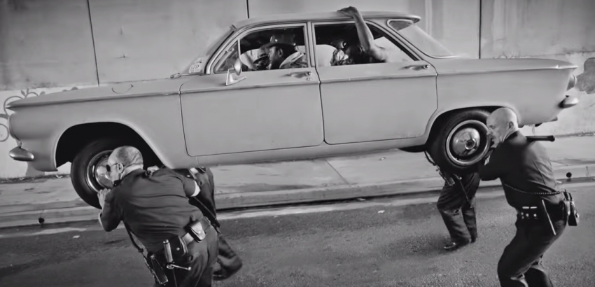 "Scene from the video for Kendrick Lamar's ""Alright"""