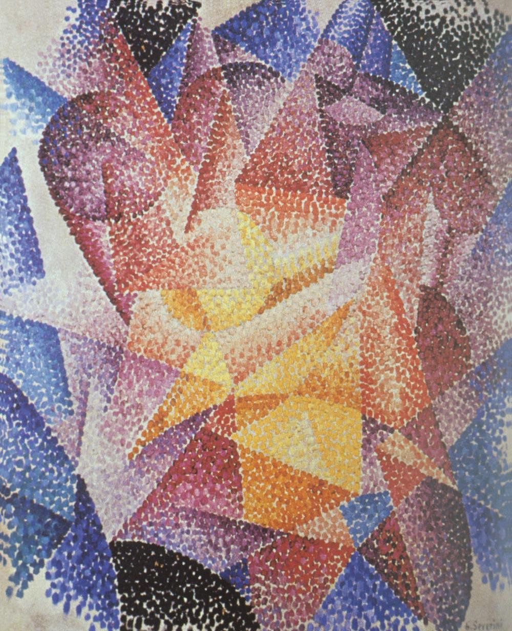 Gino Severini Spherical Expansion of Light (Centrifugal), 1914 Oil on canvas 24 3/8 x 19 3/4 inches