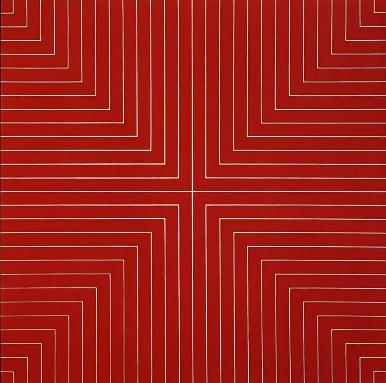 Frank Stella Delaware Crossing, 1961 Alkyd on canvas 77 x 77 inches