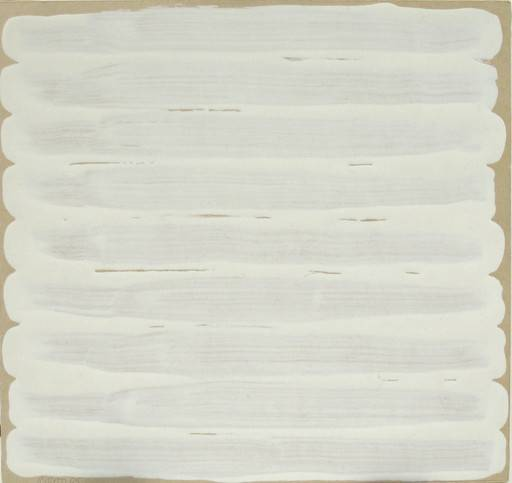 Robert Ryman  Untitled , 1965 Enamel on bristol board 7 3/4 x 8 1/8 inches