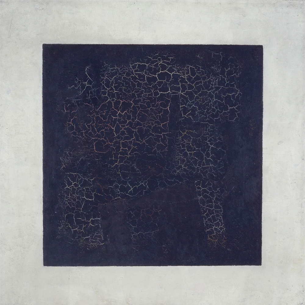 Kazimir Malevich, Black Square, 1915, oil on linen, 79.5 x 79.5 cm, Tretyakov Gallery, Moscow