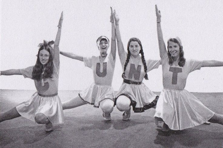 Feminist Art Program, Fresno State University, CUNT Cheerleaders, 1970-1971. Pictured: Cay Lang, Vanalyne Green, Dori Atlantis and Sue Boud.
