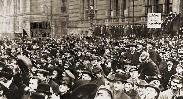 Mass demonstration in Berlin, 1919.
