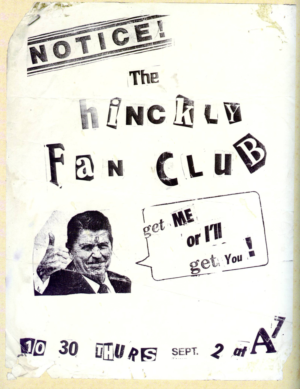 The HInckly Fan Club, aka Cause for Alaram