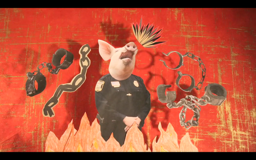 Kelly Gallagher,  Pen Up the Pigs  (2014), video still