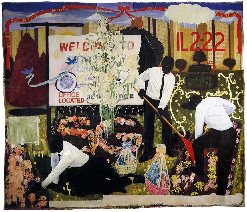 Kerry James Marshall, Many Mansions (1994)
