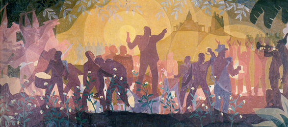 Aaron Douglas's  From Slavery to Reconstruction