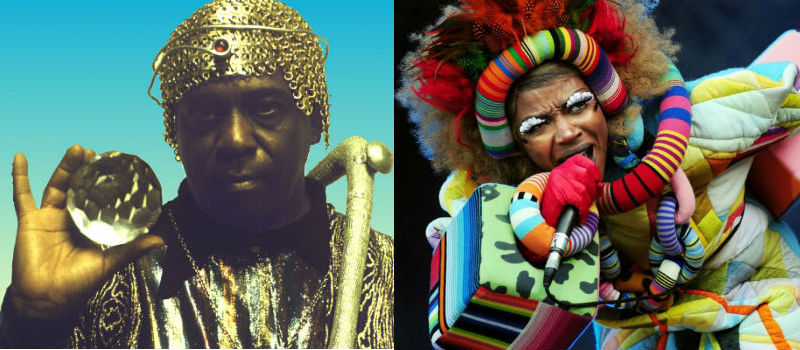 Left: Sun Ra, Right: Ebony Bones
