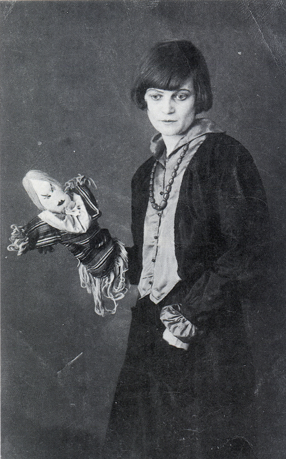 Hennings and one of her puppets