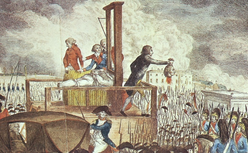 Execution of Louis XVI  copperplate engraving, 1793, by Georg Heinrich Sieveking.