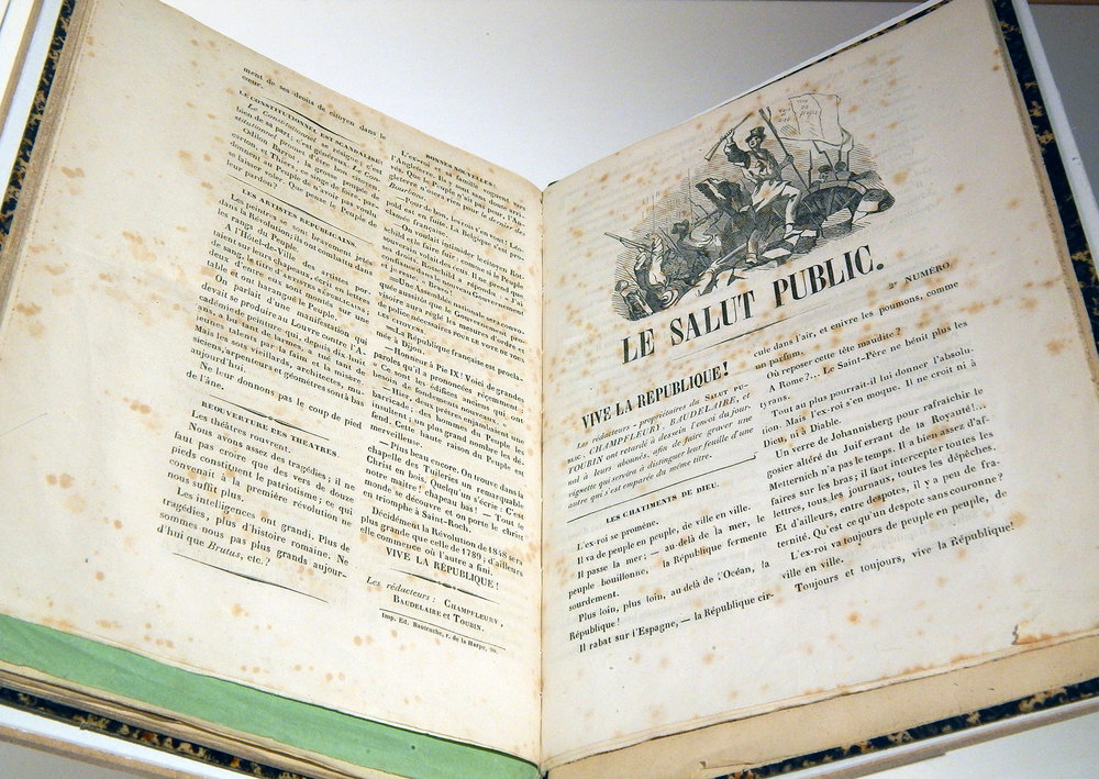 Charles Baudelaire, Gustave Croubet, Champpleury, Charles Toubin,  Le Salut public , n. 2 (1848