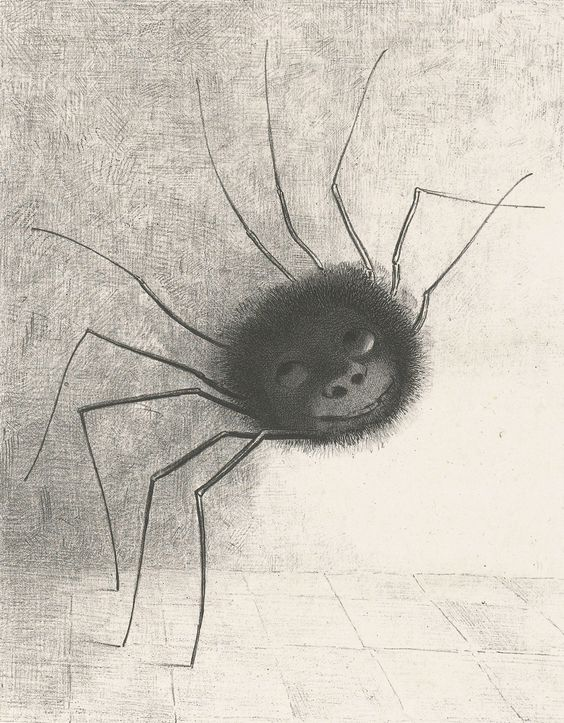 Odilon Redon, The Smiling Spider (1891)
