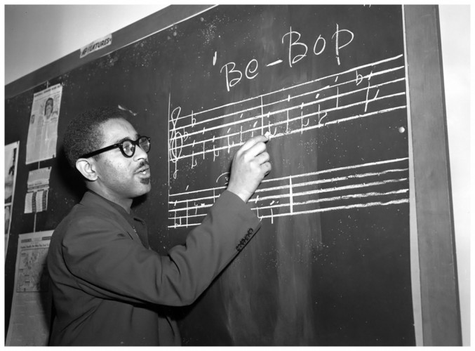 Dizzy Gillespie teaches bebop