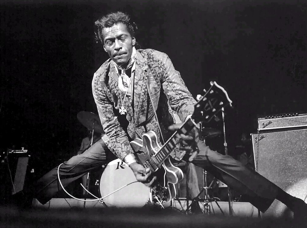 The Brown Eyed Handsome Man In Outer Space On Chuck Berry Red Wedge