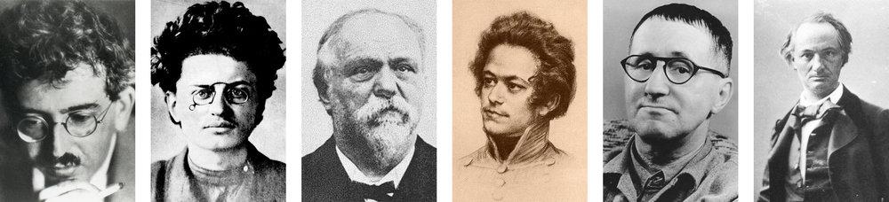 Benjamin, Trotsky, Sorel, Marx, Brecht and Baudelaire