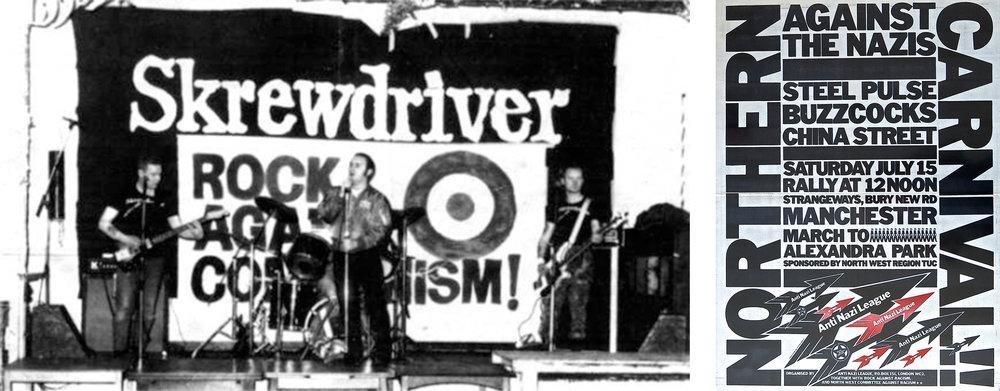 RAC vs. RAR: Rock Against Communism concert, 1978 Rock Against Racism poster. RAC concerts were largely failures.