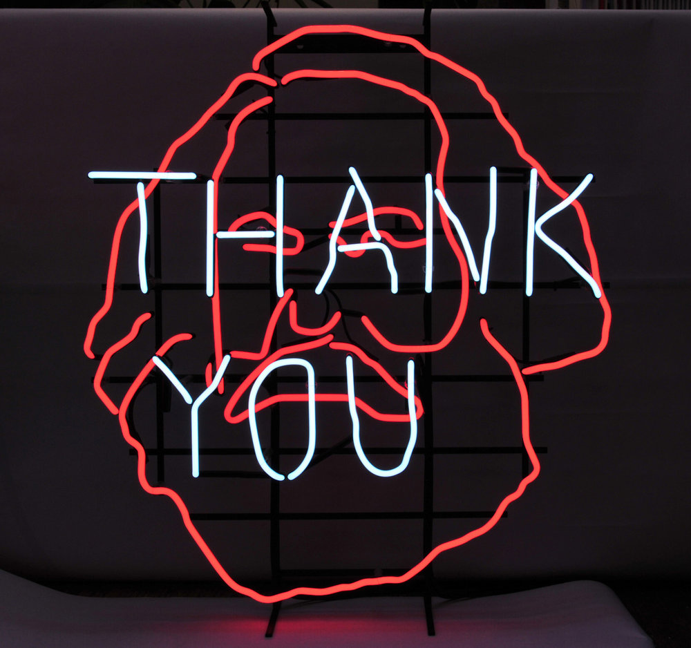 Claire Fontaine (Italy/UK > Sicily),  Untitled (Thank You) , 2005, Neon, 33 x 38 x 6.75 inches