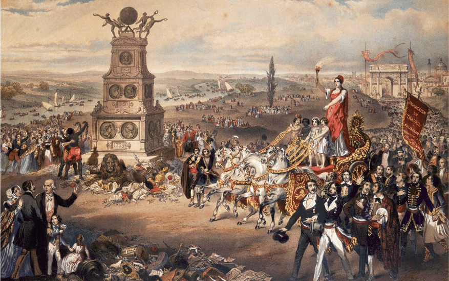 Painting by Frédéric Sorrieu on the 1848 revolutions