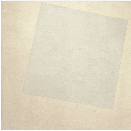 Malevich's  White On White  (1918).