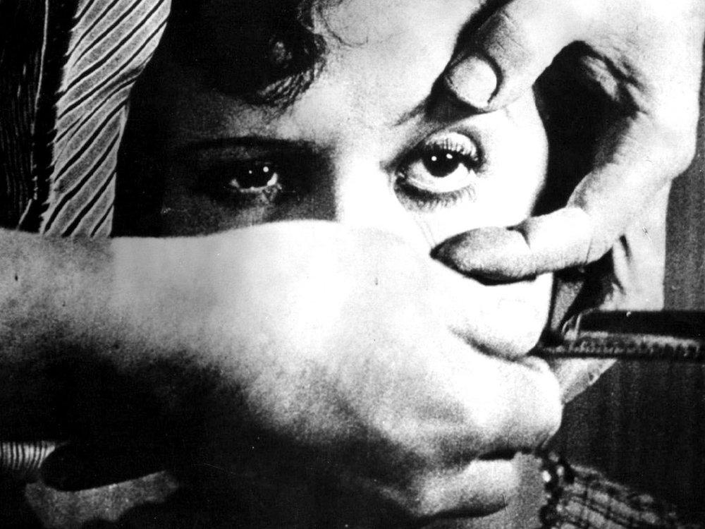 Un Chien Andalou  (still),   Luis Buñuel and artist Salvador Dalí (1929)