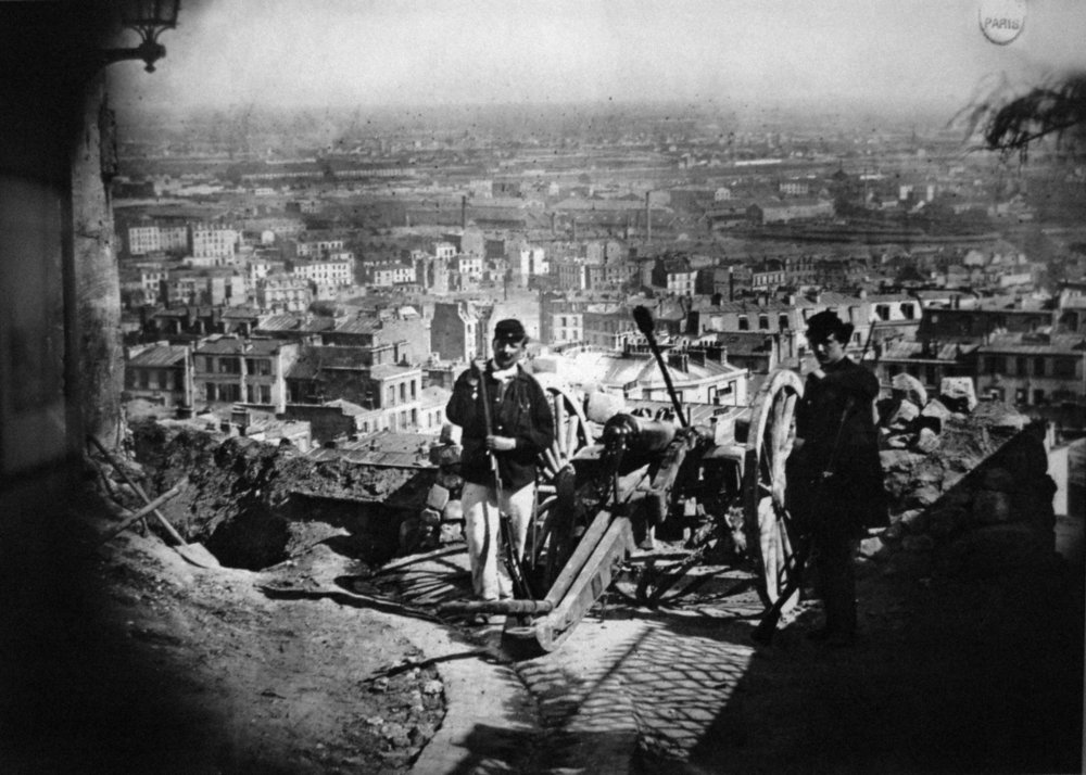 Montmartre during the Paris Commune (1871)