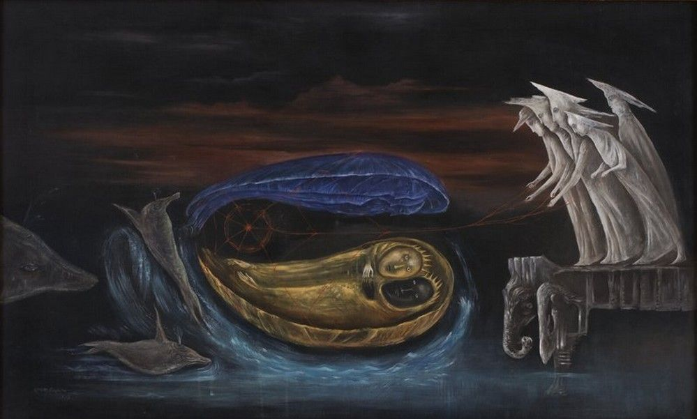 Sol Niger  by Leonora Carrington, 1975.