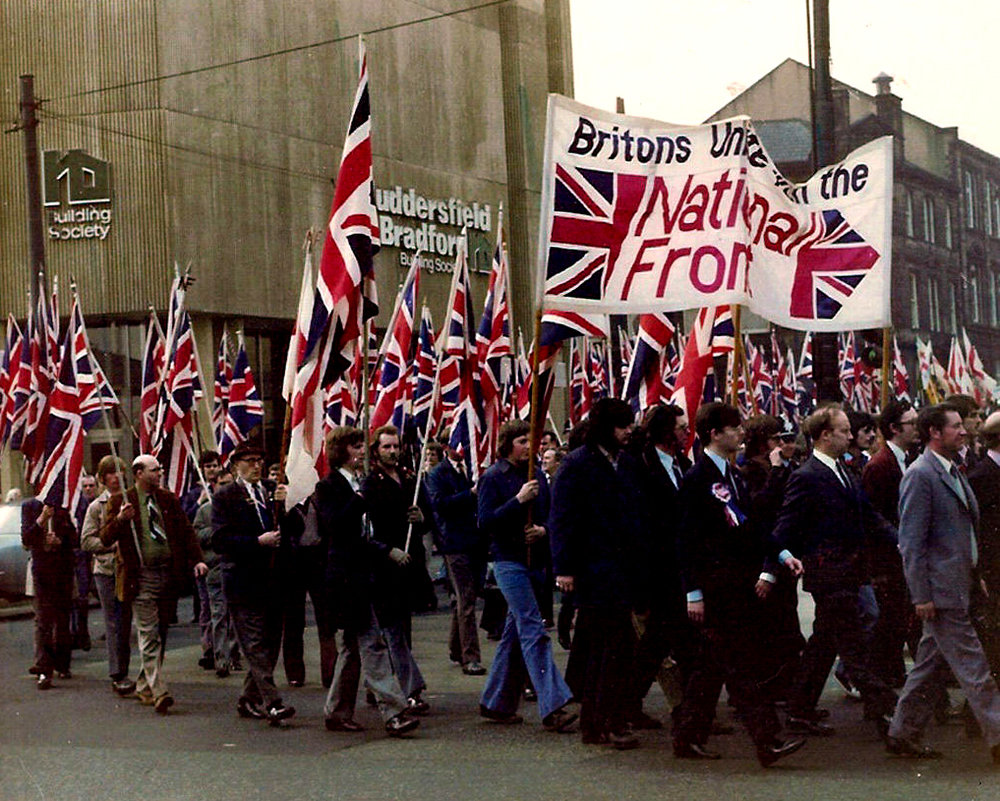 The National Front marches in Yorkshire in the 1970s.