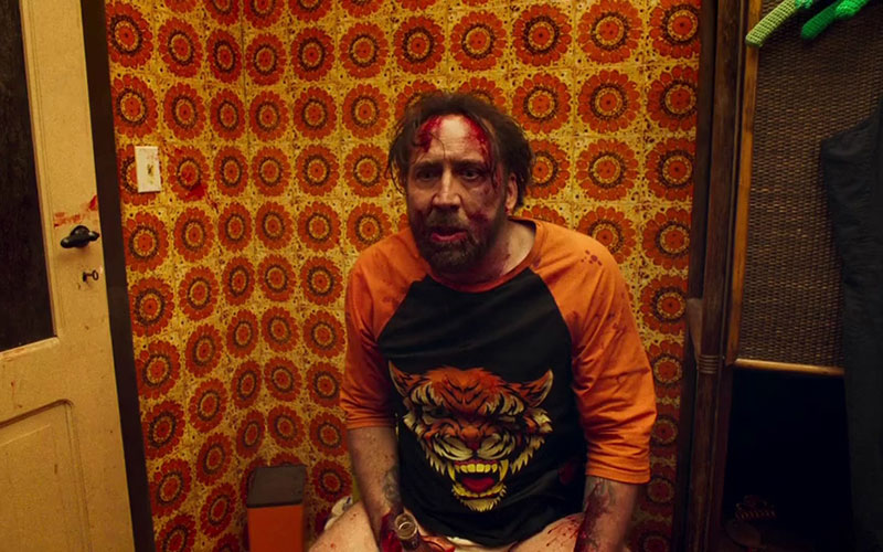 Cage is chilling in  Mandy