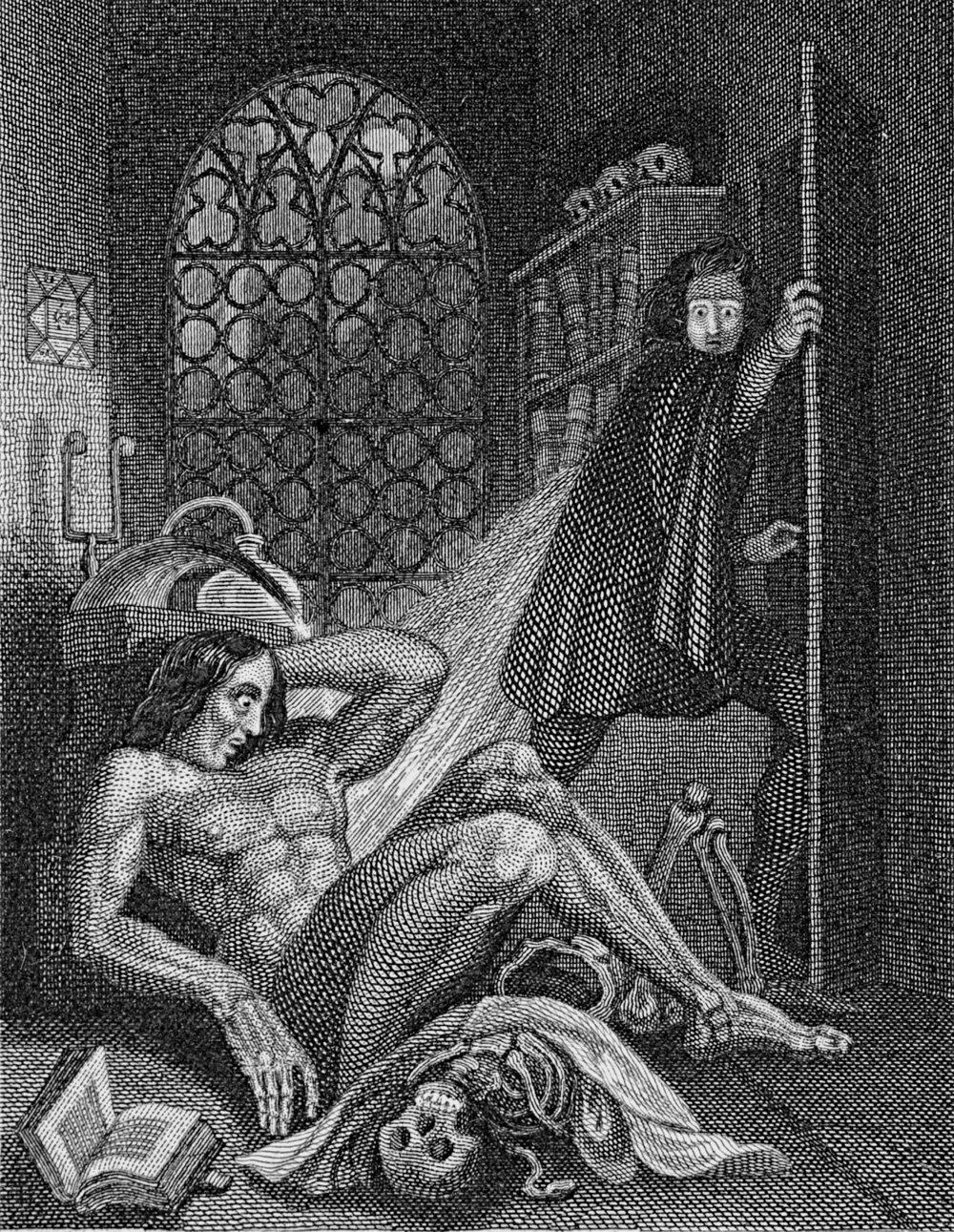 Frontis image for  Frankenstein, or the Modern Prometheus  (Revised Edition, 1831)
