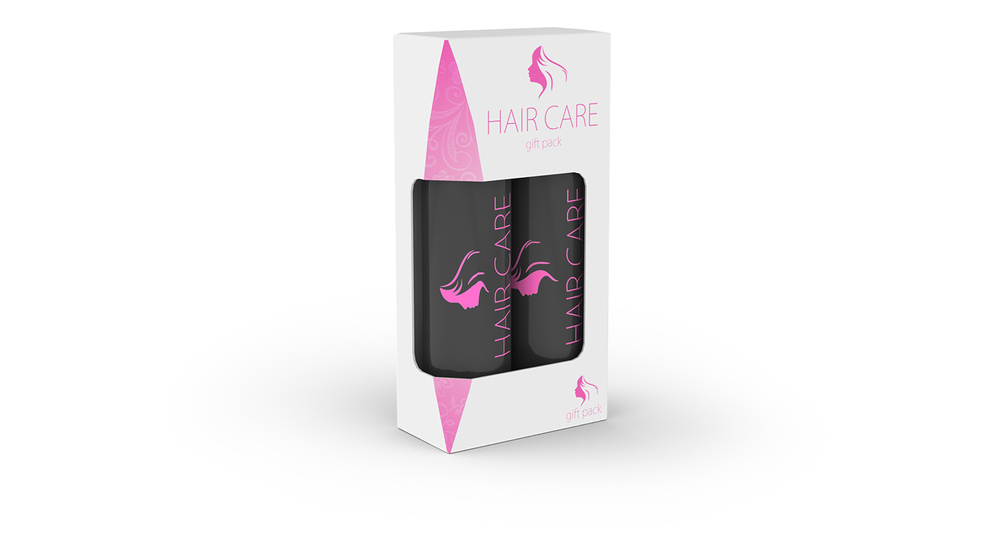 Hair Care Carton with Window
