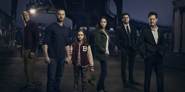 Starring (from L to R) Delroy Lindo, Jake McLaughlin, Johnny Sequoyah, Jamie Chung, Arian Moayed and Kyle MacLachlan,