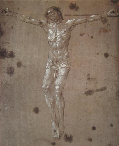 Christ on the Cross byHugo Van Der Goes c. 1480