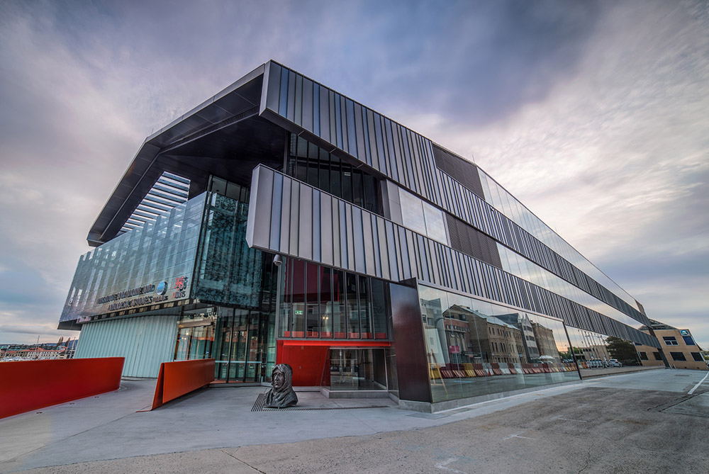 the university of tasmania's waterfront building