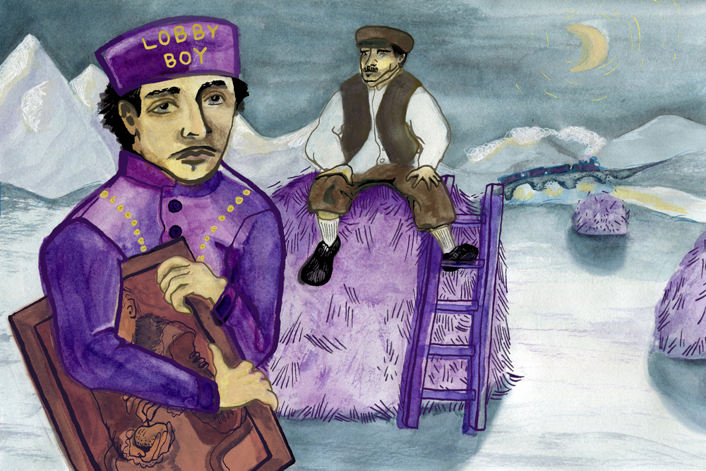 chronicler studio llc sophia brown editorial illustrations the grand budapest hotel c 2014 editorial summary of wes anderson s