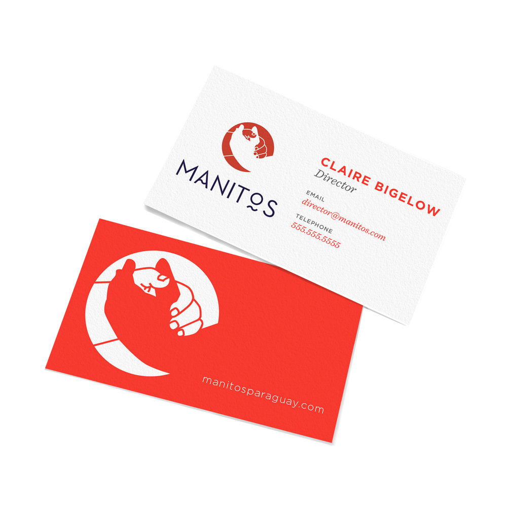 manitos business card logo