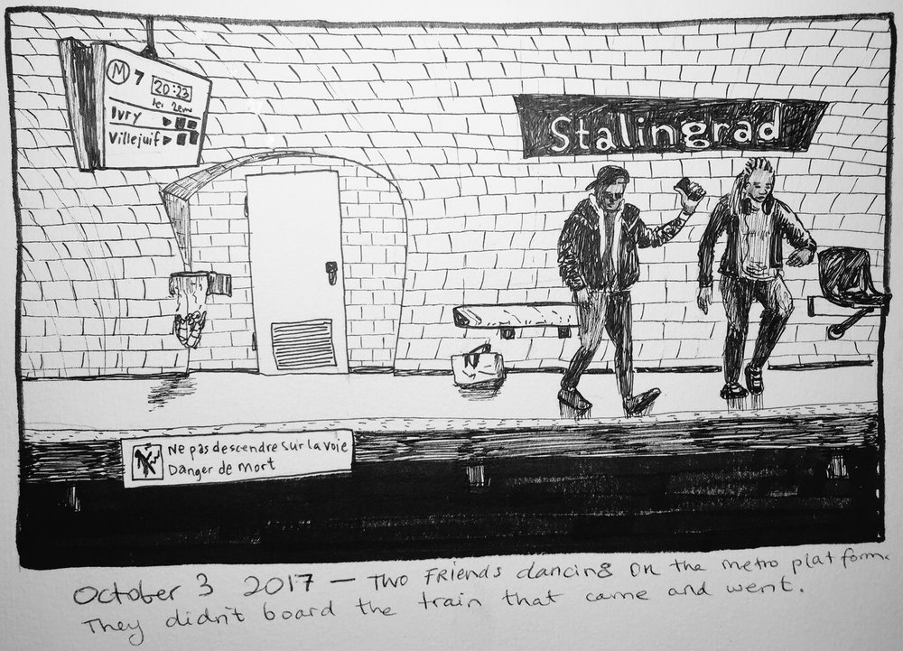 Inktober 2017 Paris metro happenings