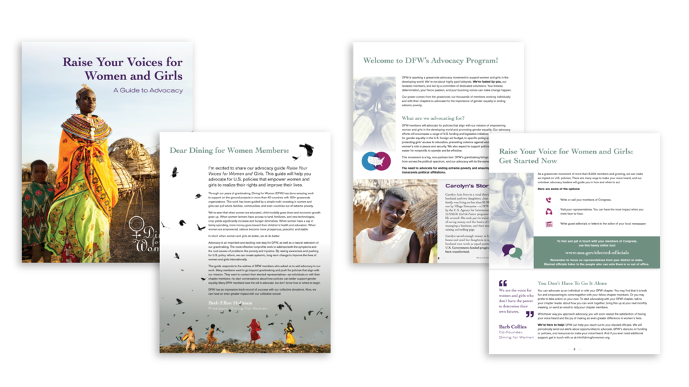 Dining For Women advocacy guide
