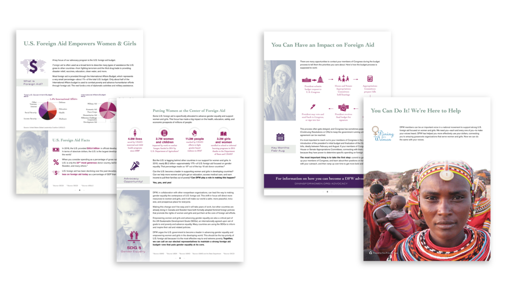 Dining For Women advocacy guide 2