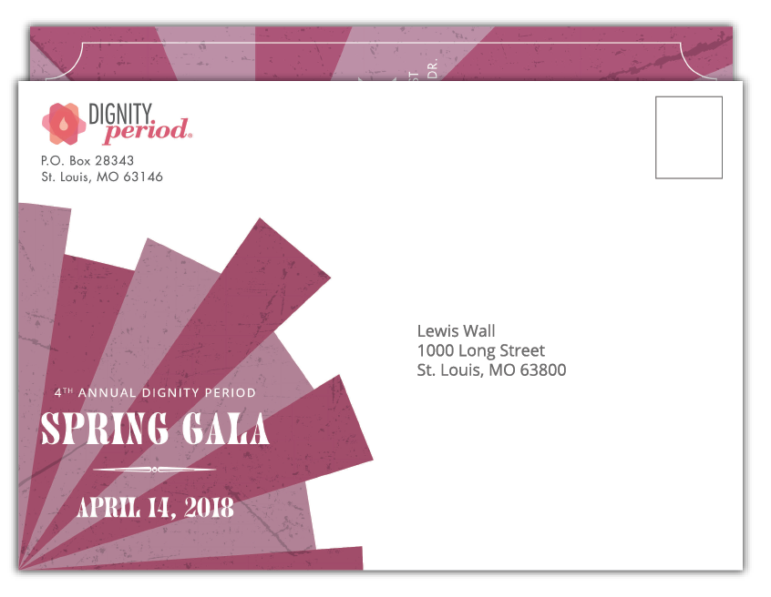 Dignity Period invitation envelope