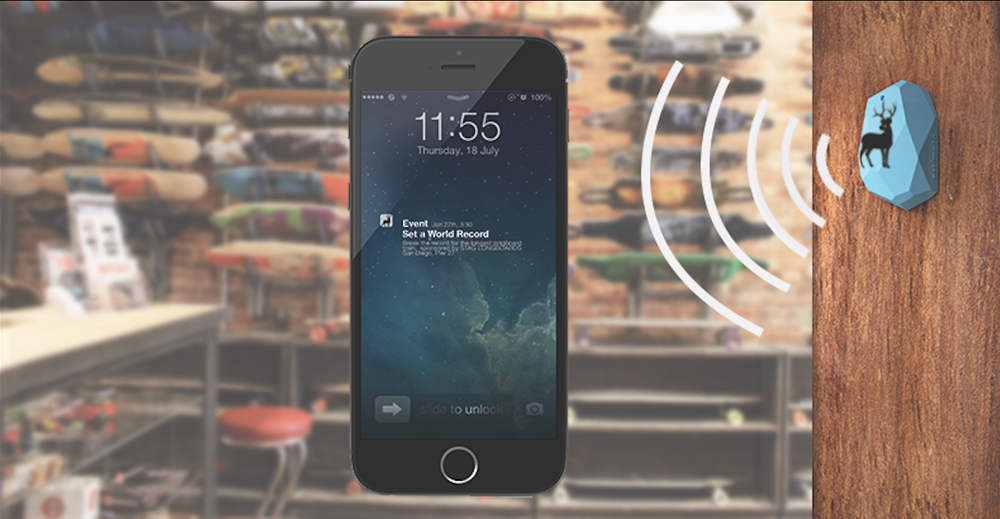 Ibeacons will be installed in local longboard and skate shops.  As soon as you are within a certain proximity, the Stag ibeacon will send a push notification and invite to your smart phone announcing the event that Stag will be sponsoring to set a world record for the longest longboard train.