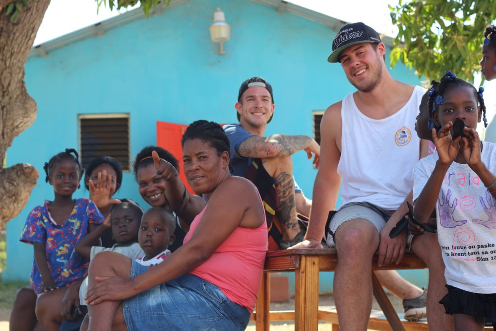 Craig and Brendon at an Orphanage in Jacmel.