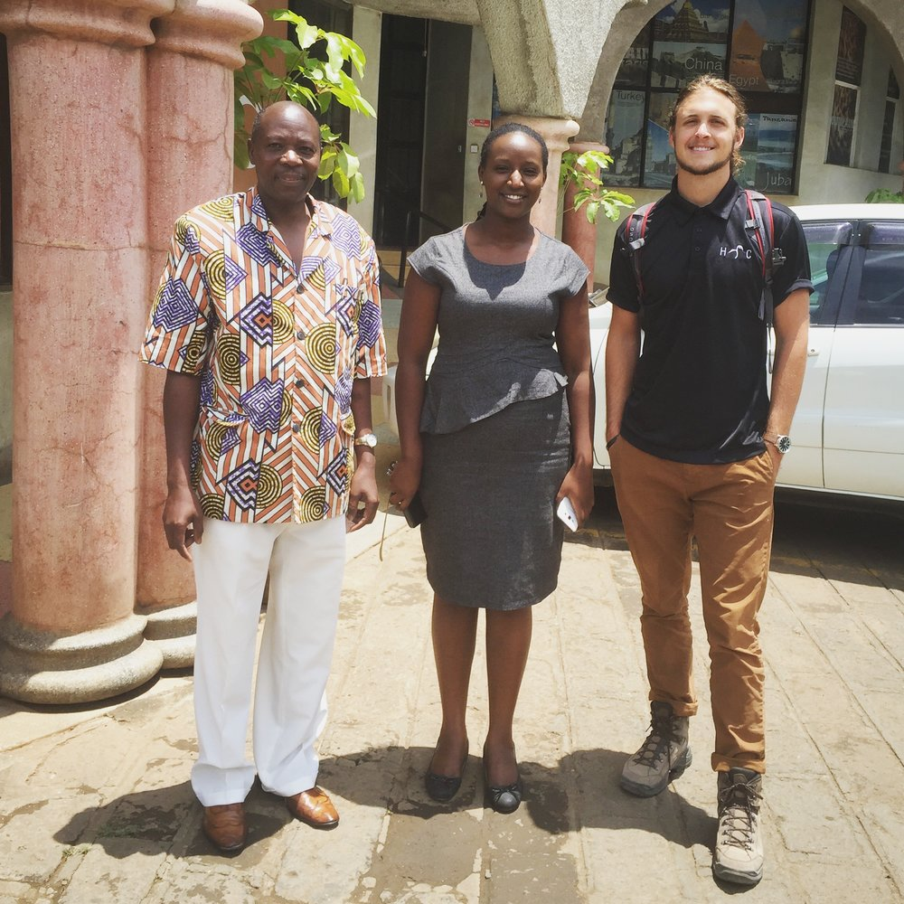 Geoff with Faustin and another TLAfrica Representative.