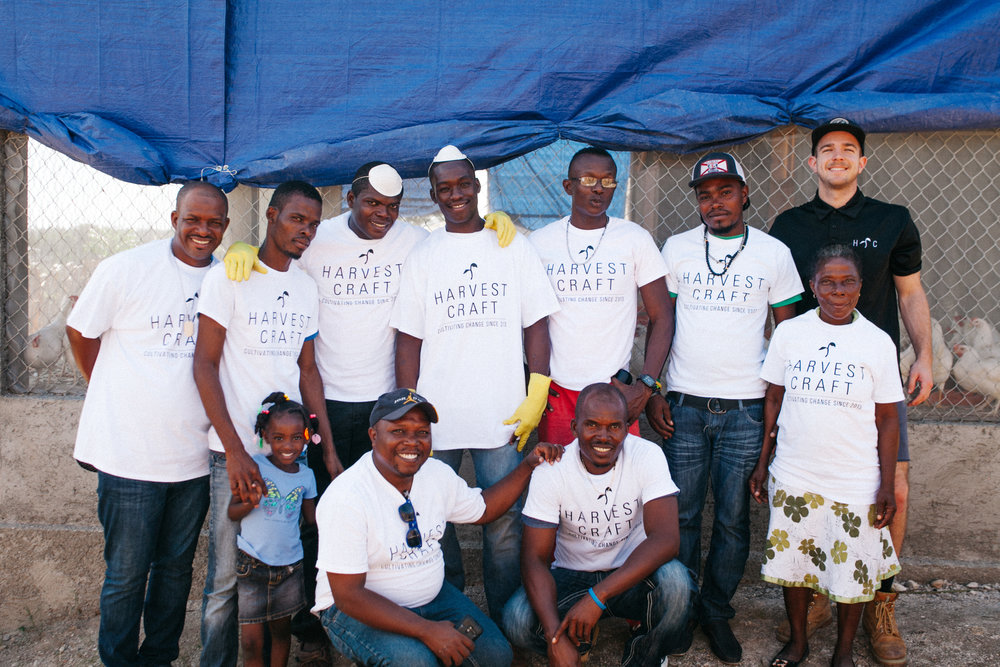 Co-Founder, Brendon, with the recent Mt. Freri Project Staff. This community project is thriving! Selling over 3,000 eggs per week!