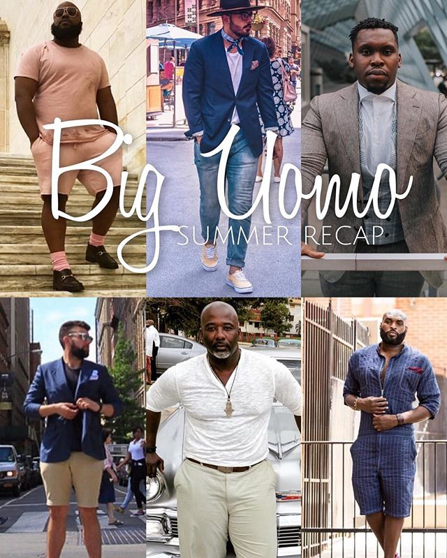 "|#BigUomo|  Big Uomo Summer Recap.☀️Head over to @big_uomo to check these Gents out . ""The question isn't who is going to let me; it's who is going to stop me."" . And no one can stop us! Big Fellas we really did our thing this summer. We are not letting the Industry define us or limit us. And we are taking fashion and style in our own hands and showing the world that we can Measure up if not Excel far beyond the Industry standard. 😎 And thank you all for following The Big Uomo Page"