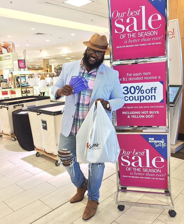 |#TheBigFashionGuy|  Aye! With the 30% off coupons I got from my donations at the #Carsons #GoodwillSale I was able to pick up a few fall items. And I'll show how I styled them in a later post. And once again be sure to check out the bio link and learn how your donations can make a difference. #Fall #FallShopping #FallStyle #Sponsored