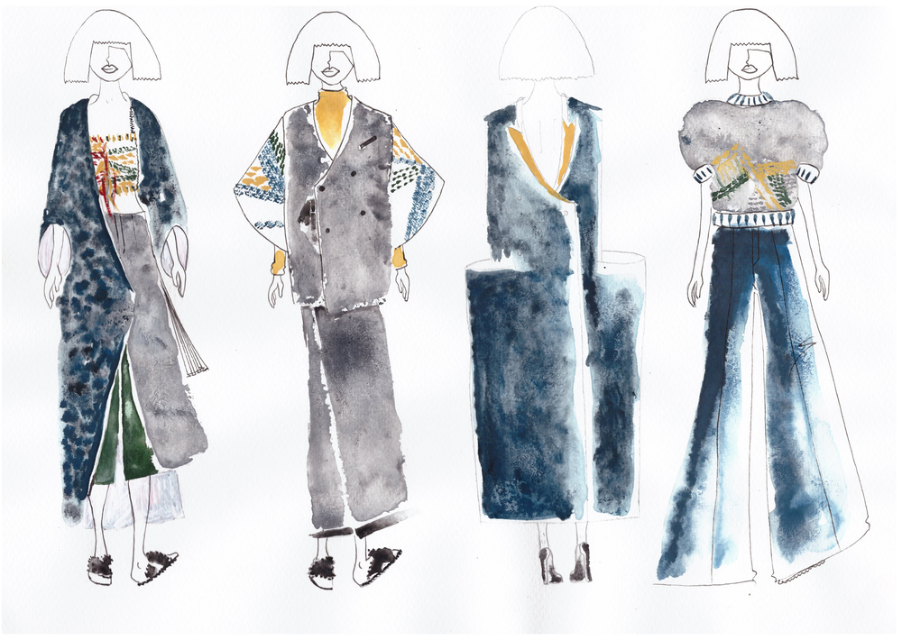 Illustration No.1 Far left | The final look that Celeste presented to the judges