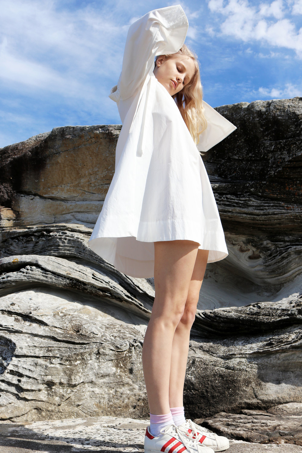 The Lennon Bell Sleeve Dress in 100% Organic cotton