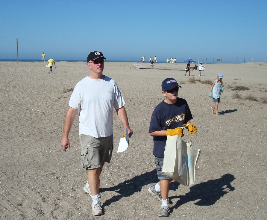 chumash-village-Mugu_Rock_cleanup_participants_on_beach.jpg