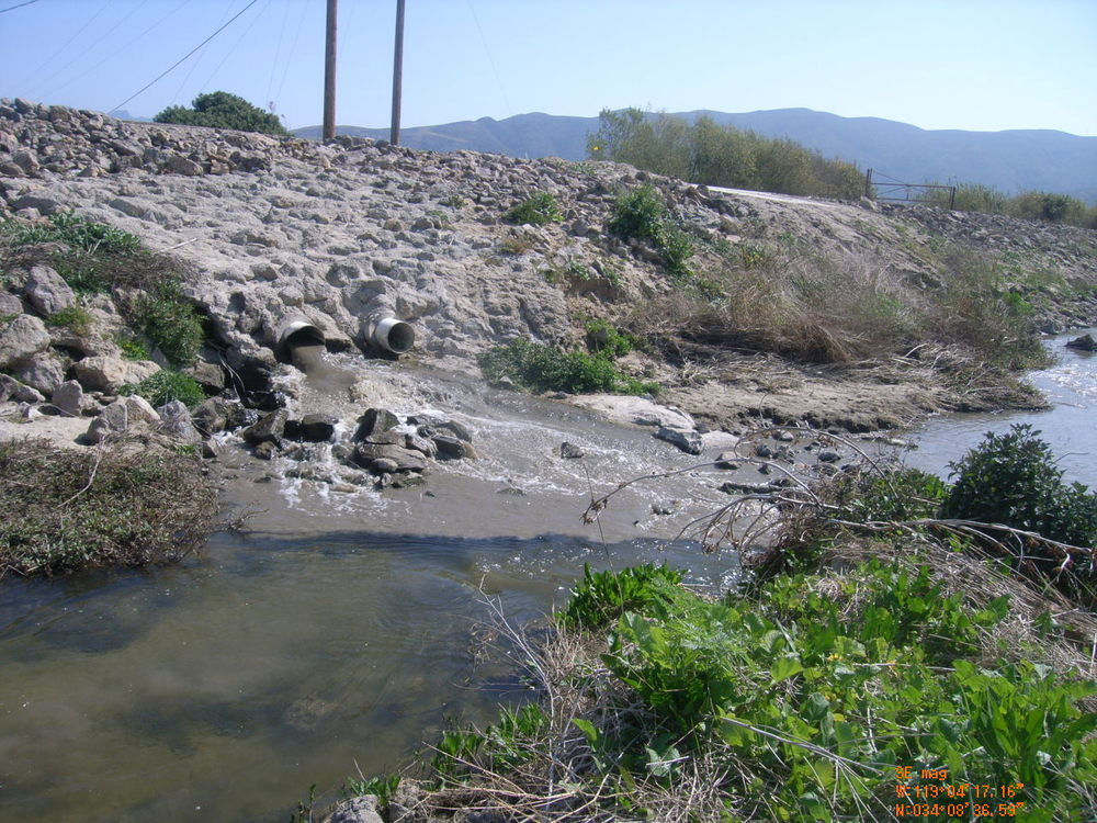 Dry Weather Discharge of Agricultural waste products Polluting Calleguas Creek and Mugu Lagoon